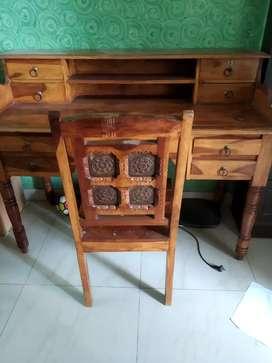 Sheesham wood study table and chair