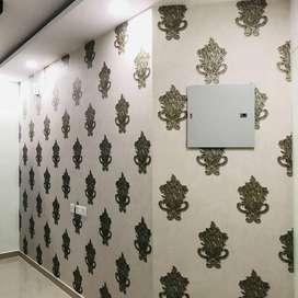 Wallpaper curtain