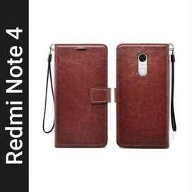 Flip Cover for Mi Redmi Note 4  (Brown, Hard Case)