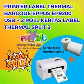 PRINTER LABEL THERMAL EPPOS EP9200 USB + BLUETOOTH + 2 ROLL KERTAS LAB