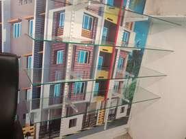 Wall display glass