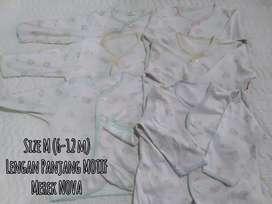Pakaian baby sz L (6-12) merek NOVA 1 set 6 pc