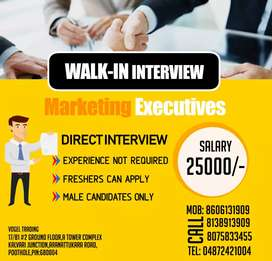 Out door Marketing Executive,  freshers can apply.