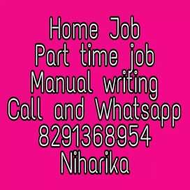 Good hand writing good earning part time job