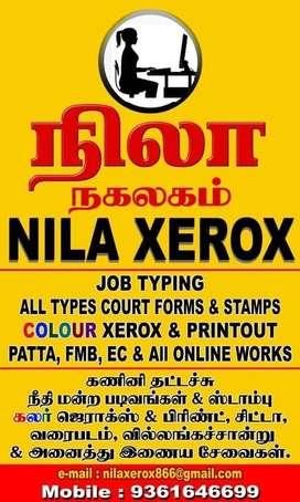 Typist & Xerox machine operator