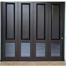 Pintu lipat garasi bahan besi galvanis anti karat bergaransi