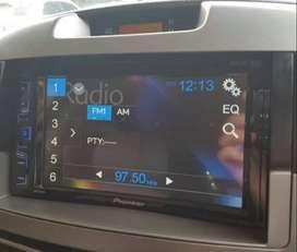 head unit tape mobil layar headrest monitor plafon android plat deglas