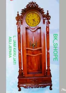 Lemari Jam klasik dan antik asli Jepara dr kayu jati