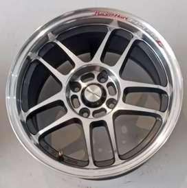 Jual velg racing murah ring 15x7.0 h4x100 et35 bisa Datsun go Vios