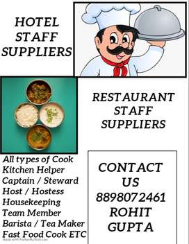 we provide all types of staffs in Hotel Restaurant Cafe in Navi Mumbai