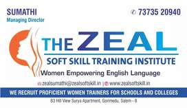 English trainers to work in schools