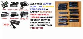 All Types Laptop & Battery Available 1 Year Warranty