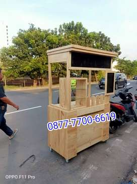 Booth jati belanda / gerobak jati belanda/gerobak kayu