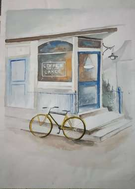 Cafe Scenes Painting