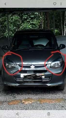 Alto 800 bumper and headlight