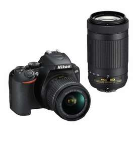 Nikon D5300 camera body with 18-55mm lens and 70-300mm lens