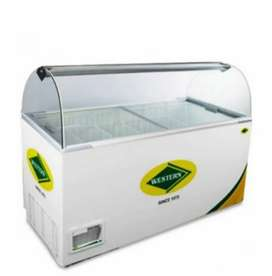 Western 425 deep freezer with scooping glass