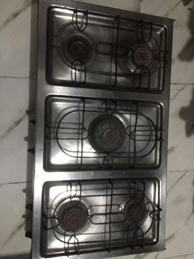 Five burnr cooking range