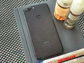 Iphone 7+ 128gb black garansi tam