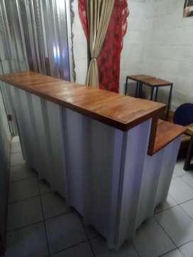 Booth gerobak semi kontainer