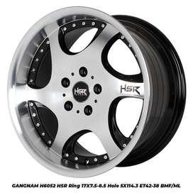 velg mobil honda civic new  HSR R17X75-85 H5X114,3 ET42-38 BMF-ML