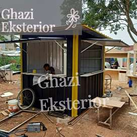 BOOTH SEMI CONTAINER /CONTAINER USAHA KULINER /CONTAINER FRIED CHCIKEN