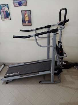 Gym cycle and manual gymtrac treadmill