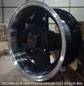spek detail velg AACHEN 5076 HSR R15X7/8 H8X100-114 ET30BML