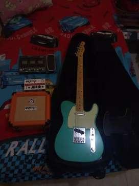 Fender Tele mex'14+ampli orange+efek g3x zoom+semi harcase