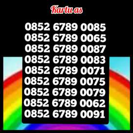 Nomor cantik kartu as rapi