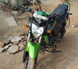 Yamaha FZS Green Color