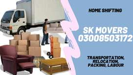 SK Logistics Movers Packers Provides House Packing, Moving and Trucks