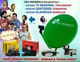 Antena NEX PARABOLA Siaran Terlengkap Gratis selamanya Free Instalasi