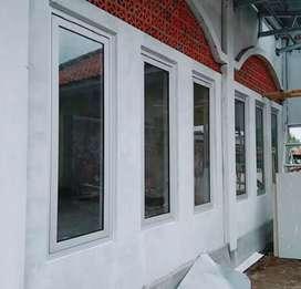 Jendela dan partisi kaca alumunium .256