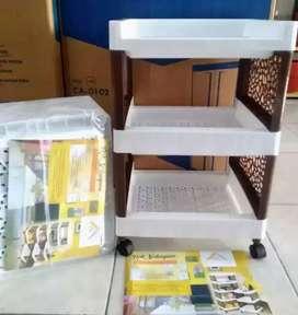 PROMO - RAK FAWSLINE SUSUN 3RAK PAKAIAN/PLASTIK BUKU 33x55x36CM 4RODA
