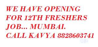 we have opening for 12th freshers