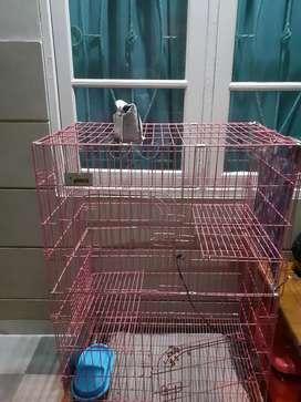 Kandang kucing 3 tingkat uk 70x50x110