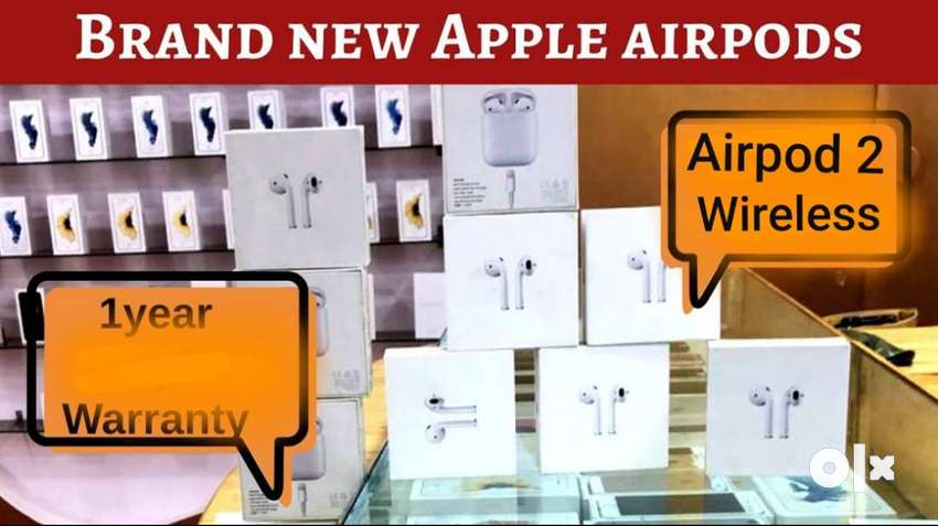 New Orignal Apple Airpod 2 wireless 57% discount with bill, 1yr warnty 0