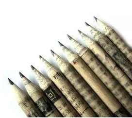 Newspaper pencil