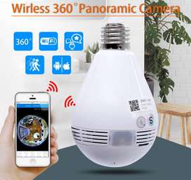 Bulb WiFi Panorama IP Camera 360 SD Card Slot - Online View 2way Aduio