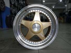 velg celong  PERUGIA JD08 HSR Ring17X75-85 H8X100-114,3 ET45+38 GOLDML