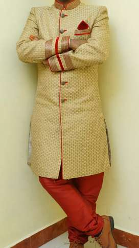 Traditional Men Sherwani with churidar is available for sale