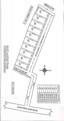 Diverted residential Plot near Rama Green City and Dream City