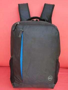 Tas import eks DELL backpack/ransel kanvas tebal hitam simpel