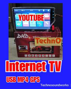 Tv mobil 7 in Android internet mp4 usb tape double din for sound paket
