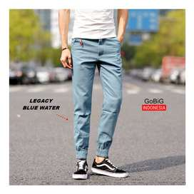Legacy Jogger Pants - JOGGER INDONESIA - Simple Blue Water