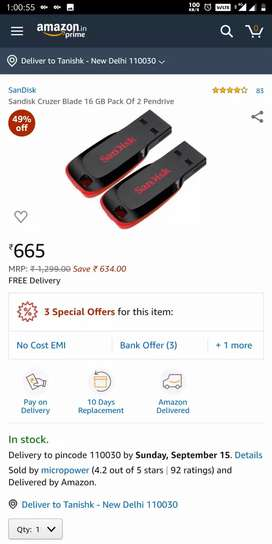 16 GB COMBO PENDRIVE