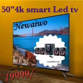 "Dazzling offer Newaiwo 52""Smart 4k Ledtvs free Home theatre"