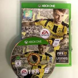 Fifa17 Orignal DVD for XBOX ONE Scratchless exchange with tekken tag2