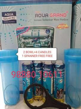 सेल FREE 4 CANDLES 2 BOWL 1 SPANNER..FOOD GRADE AQUAGRAND RO WATER PUR